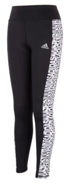 adidas Big Girls Print Panel Pocket Tight Pants