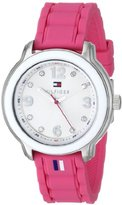 Tommy Hilfiger Women's 1781419 Stainless Steel Watch with Pink Silicone Strap