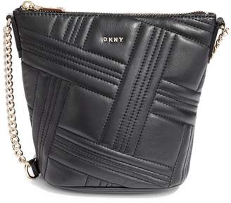 DKNY Allen Leather Bucket Crossbody Bag
