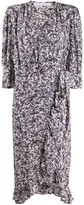 IRO Trafal floral wrap dress