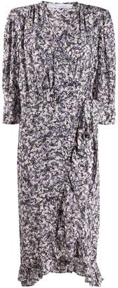IRO Trafal floral wrap dress