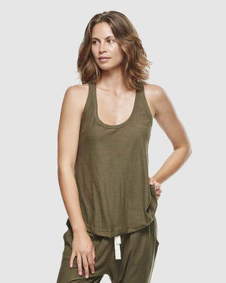 Cloth & Co. - Women's Green Singlets - Organic Cotton Slub Singlet - Size One Size, S at The Iconic