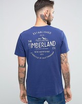 Timberland Kennebec T-shirt Mountain With Logo Back Print