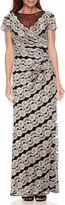 R & M Richards Scarlett Sparkle Lace Blouson Gown