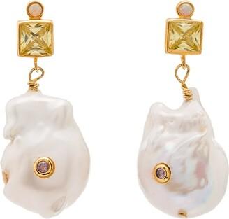 Anni Lu Golden Glow pearl drop earrings