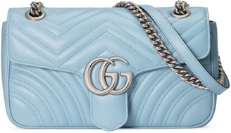 Gucci GG Marmont small Houndstooth shoulder bag