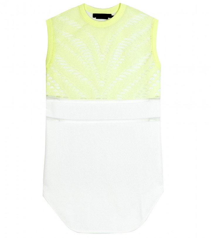 Alexander Wang HOCKEY SLEEVELESS TOP WITH CUT-OUT DETAIL