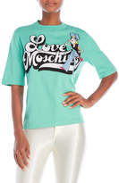 Love Moschino Mint Green Graphic Sweater