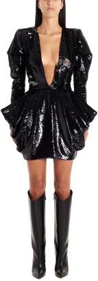 Alexandre Vauthier Deep V Sequin Dress