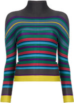 Issey Miyake striped roll-neck sweater