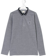 Armani Junior classic polo shirt - kids - Cotton - 14 yrs