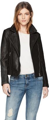 BB Dakota Women's Braelyn Leather Moto Jacket
