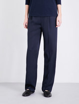 Vince Wide-leg stretch-satin trousers