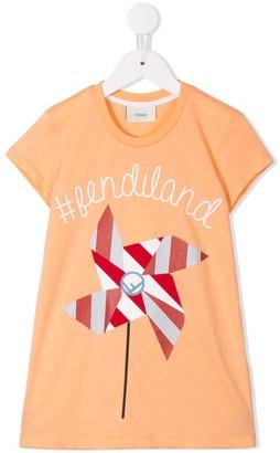 Fendi Kids #Fendiland T-shirt