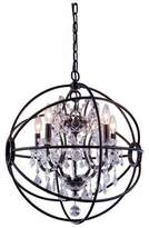 clear Ashly 5-Light Candle Style Classic / Traditional Chandelier Rosdorf Park Finish: Dark Bronze, Crystal Color