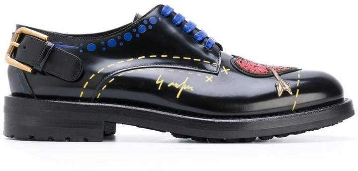 Dolce & Gabbana heart patch lace-up shoes