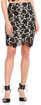 Lucy Paris Floral Lace Pencil Skirt
