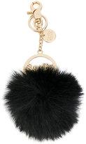 See by Chloe fluffy pom pom key chain - women - Polyester/Zinc/Enamel - M