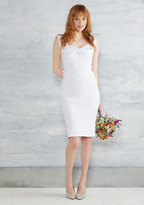 Stop Staring Nonpareil Nuptials Sheath Dress in White in 3X