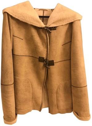 Sylvie Schimmel Beige Leather Trench Coat for Women