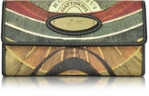 Gattinoni Planetarium Coated Canvas Zip Pocket Women's Wallet
