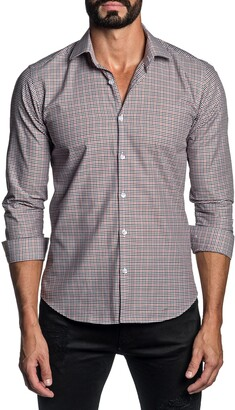 Jared Lang Regular Fit Check Button-Up Shirt