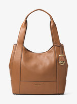 Michael Kors Marlon Large Leather Shoulder Tote