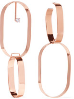 Maison Margiela Rose Gold-plated Crystal Earrings - one size