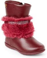 Pampili Toddler/Kids Girls) Cherry Faux Fur Cuff Boots