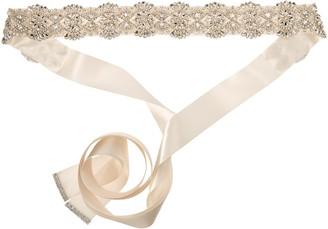 Nina Women's Merina Glamorous Pearl and Crystal Satin Bridal Belt