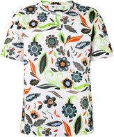 Fendi short-sleeved flower print T-shirt - men - Cotton/Polyamide - 46