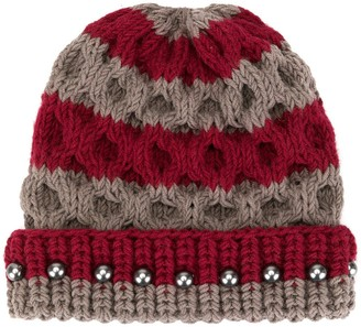 0711 Crystal Bead Knit Beanie