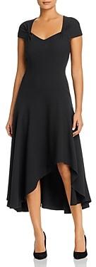 Elie Tahari Phoenix Crepe Asymmetric Hem Dress