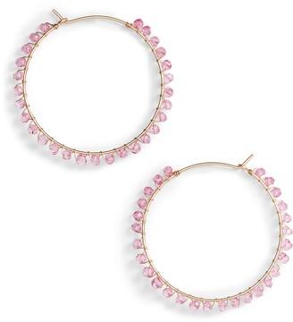 Nashelle Gem Cascade Hoop Earrings