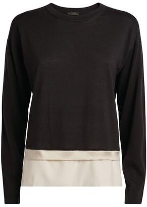 Peserico Contrast-Trim Wool Sweater