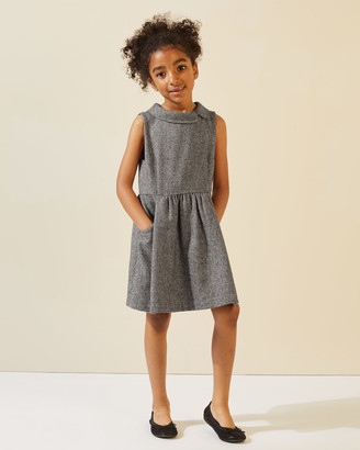 Jigsaw Puppytooth Wool Pinafore