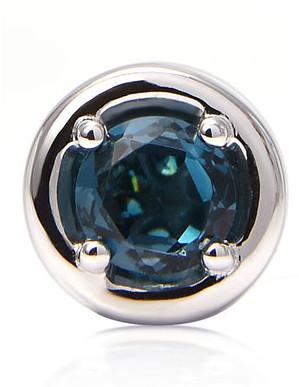 Stevie Wren Round London Blue Topaz Charm with Blue Diamond