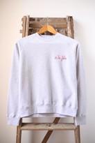 Maison Labiche Maison La Biche - A La Folie Grey Marl Sweatshirt - M