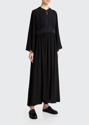 The Row Smith Silk Bell-Sleeve Maxi Dress