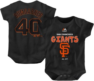 Majestic Newborn & Infant Madison Bumgarner Black San Francisco Giants Stitched Player Name & Number Bodysuit