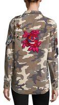 Cinq a Sept Canyon Embellished Camo Jacket