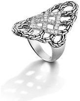 John Hardy 'Classic Chain' Diamond Saddle Ring