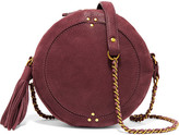 Jerome Dreyfuss Remi Textured-leather Shoulder Bag - Burgundy