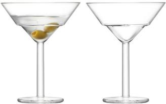 LSA Mixologist Glass 2 Piece Cocktail Martini Glass Set 230ml