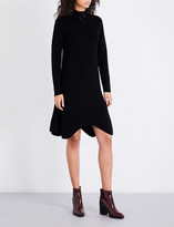 Mo&Co. Zip-collar knitted dress