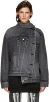 Balenciaga Black Denim Pulled Jacket