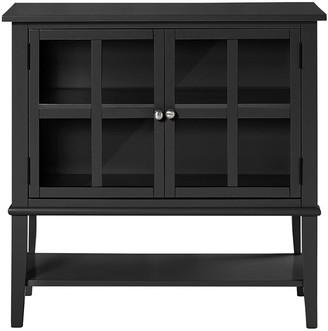 Franklin 2 Door Storage Cabinet- Black