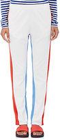 Tory Sport Women's Colorblocked Piqué-Knit Track Pants-WHITE