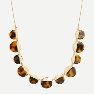 J.Crew Adjustable tortoise statement necklace