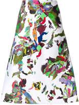Versus printed a-line skirt